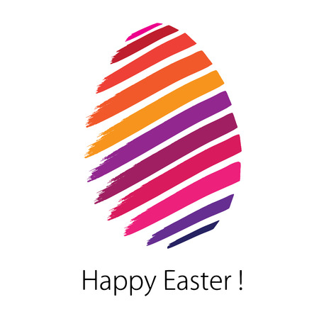 changed: Happy Easter. Greeting card in Vector Format. Color can be changed by one click Illustration