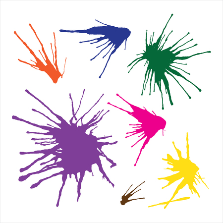 changed: Paint splashes set for design use in Vector Format. Color can be changed by one click