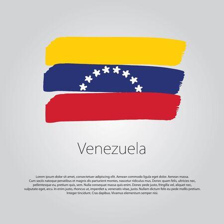 bandera de venezuela: La bandera de Venezuela con líneas de colores dibujados a mano en formato vectorial