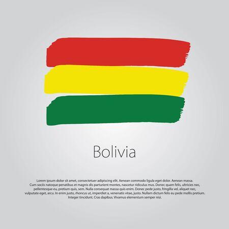 bandera de bolivia: Bandera de Bolivia con l�neas de colores dibujados a mano en formato vectorial Vectores
