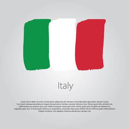 Bandiera Italia con linee disegnati a mano colorati in formato vettoriale Archivio Fotografico - 52077157