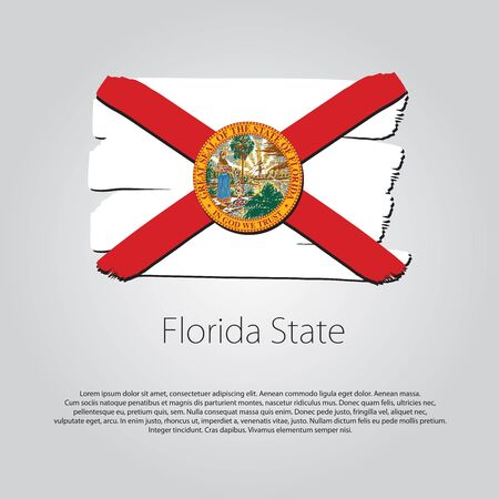 florida state: Florida State Flag with colored  lines
