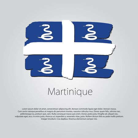 martinique: Martinique Flag with colored hand drawn lines in Vector Format Illustration