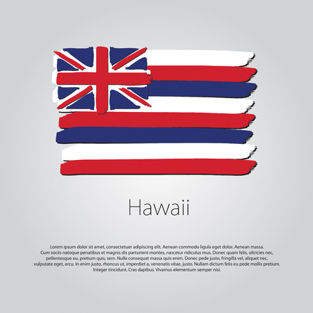 hawaii flag: Hawaii Flag with colored hand drawn lines in Vector Format