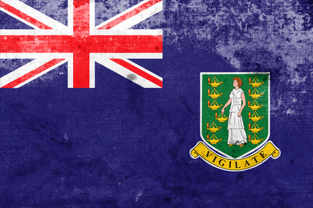 polity: Flag of British Virgin Islands, with a vintage and old look Stock Photo