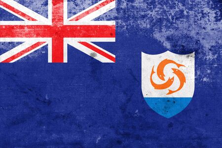anguilla: Flag of Anguilla, with a vintage and old look