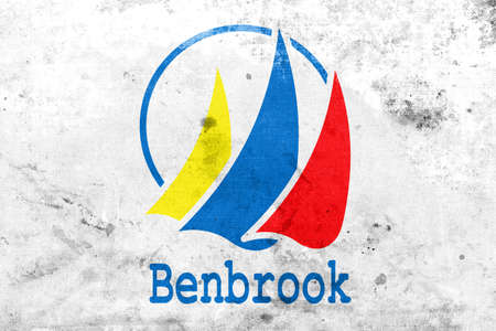 education policy: Flag of Benbrook, Texas, with a vintage and old look