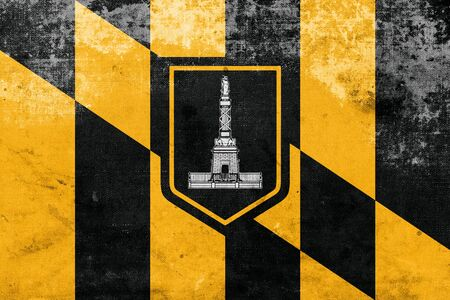 polity: Flag of Baltimore, Maryland, with a vintage and old look Stock Photo