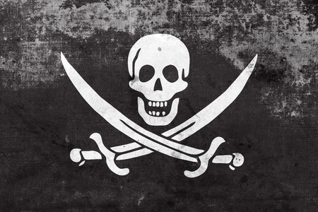 calico: Calico Jack Pirate Flag with a vintage and old look