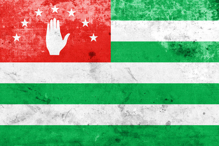 polity: Flag of Abkhazia with a vintage and old look