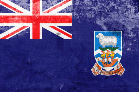 polity: Flag of Falkland Islands, with a vintage and old look