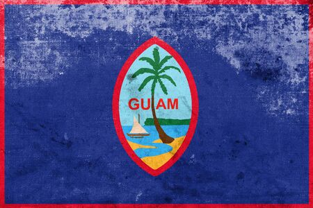 polity: Flag of Guam, with a vintage and old look