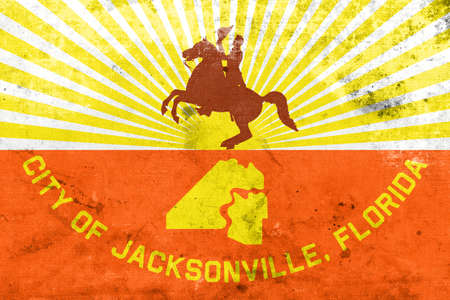 jacksonville: Flag of Jacksonville, Florida, with a vintage and old look