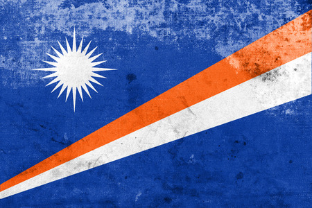 marshall: Flag of Marshall Islands, with a vintage and old look