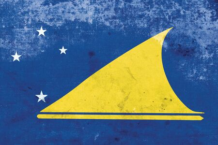 tokelau: Flag of Tokelau, with a vintage and old look Stock Photo