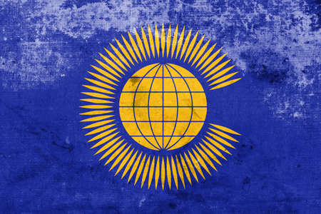 nations: Flag of the Commonwealth of Nations, with a vintage and old look
