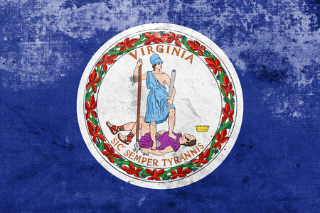 commonwealth: Flag of the Commonwealth of Virginia, with a vintage and old look