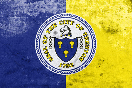 new look: Flag of Trenton, New Jersey, with a vintage and old look
