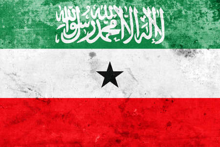 somaliland: Flag of Somaliland, with a vintage and old look
