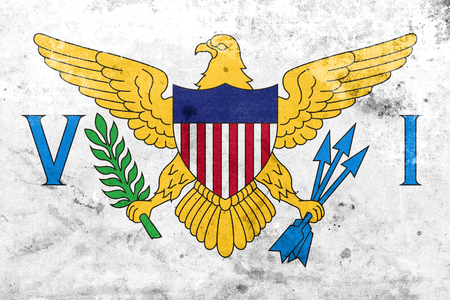 virgin islands: Flag of the U.S. Virgin Islands, with a vintage and old look Stock Photo