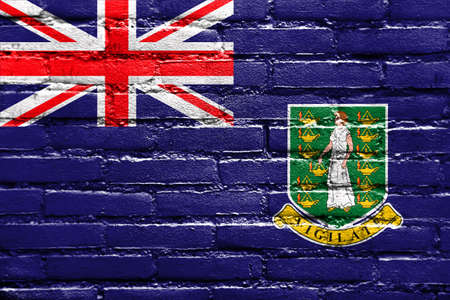 polity: Flag of British Virgin Islands, painted on brick wall Stock Photo