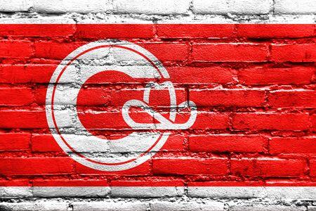 calgary: Flag of Calgary, painted on brick wall