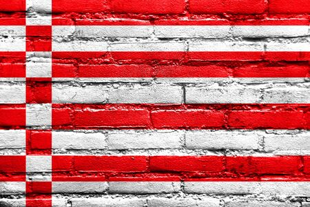 bremen: Flag of Bremen, painted on brick wall Stock Photo