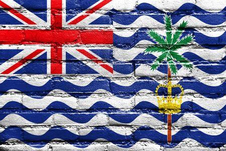 indian ocean: Flag of British Indian Ocean Territory, painted on brick wall