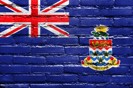 cayman: Flag of Cayman Islands, painted on brick wall
