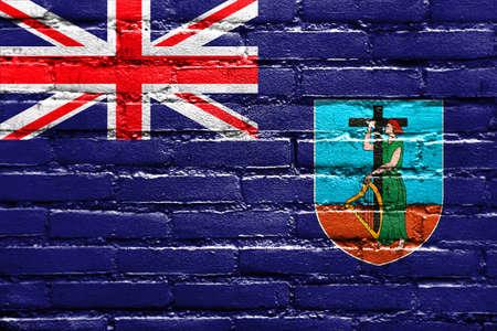montserrat: Flag of Montserrat, painted on brick wall