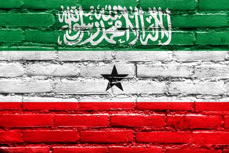 somaliland: Flag of Somaliland, painted on brick wall Stock Photo
