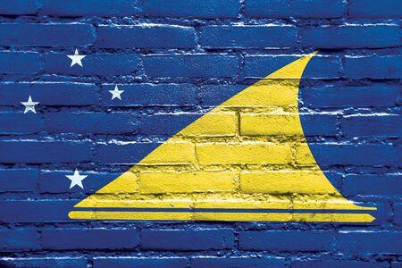 tokelau: Flag of Tokelau, painted on brick wall