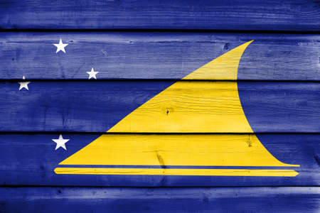 education policy: Flag of Tokelau, painted on old wood plank background