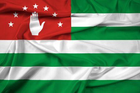 abkhazia: Waving Flag of Abkhazia