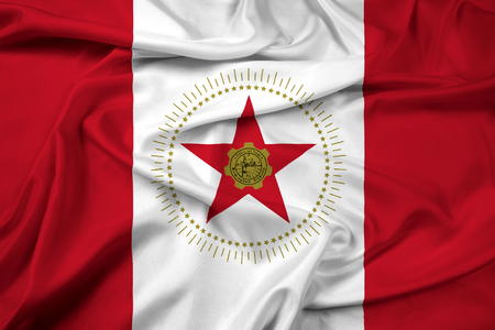 alabama: Waving Flag of Birmingham, Alabama
