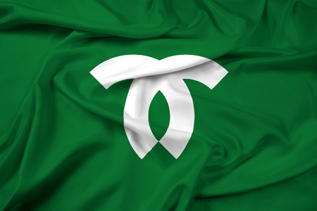 education policy: Waving Flag of Kobe, Japan Stock Photo