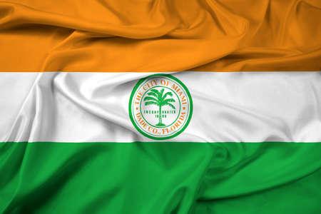 miami florida: Waving Flag of Miami, Florida