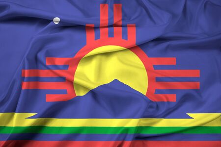 new mexico: Waving Flag of Roswell, New Mexico