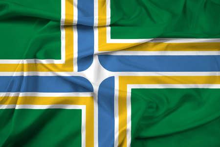 portland: Waving Flag of Portland, Oregon