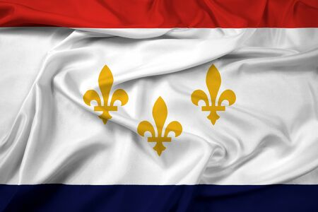 new orleans: Waving Flag of New Orleans, Louisiana