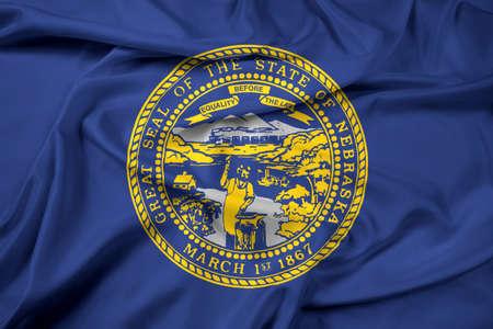 nebraska: Waving Flag of Nebraska State
