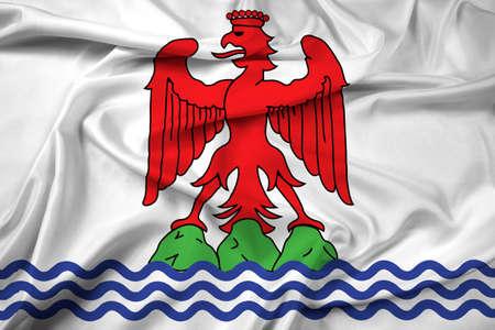 nice france: Waving Flag of Nice
