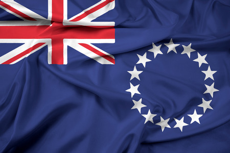 land mark: Waving Flag of the Cook Islands