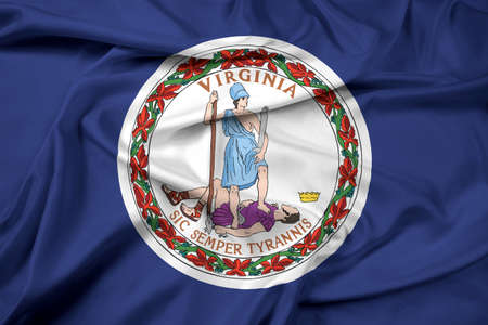 commonwealth: Waving Flag of the Commonwealth of Virginia Stock Photo