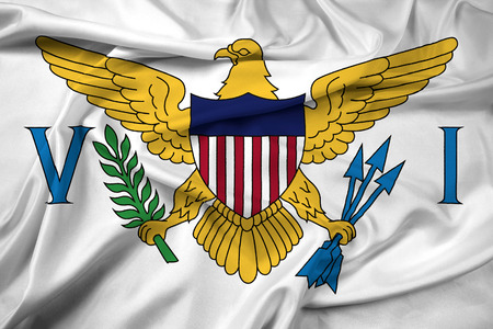 the virgin islands: Waving Flag of the U.S. Virgin Islands