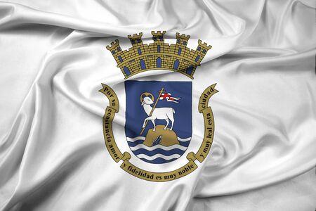 san juan: Waving Flag of San Juan, Puerto Rico