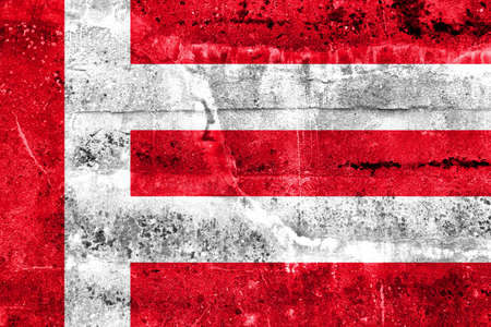 eindhoven: Flag of Eindhoven, painted on dirty wall. Vintage and old look. Stock Photo