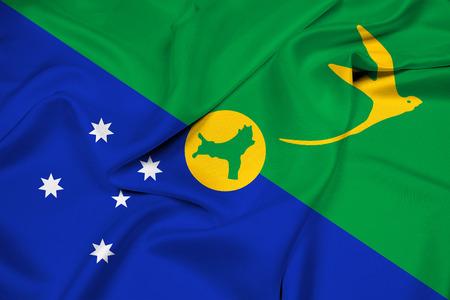education policy: Waving Flag of Christmas Island Stock Photo