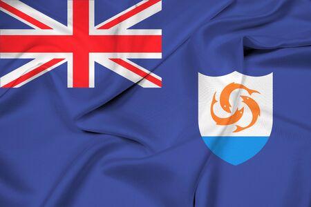anguilla: Waving Flag of Anguilla