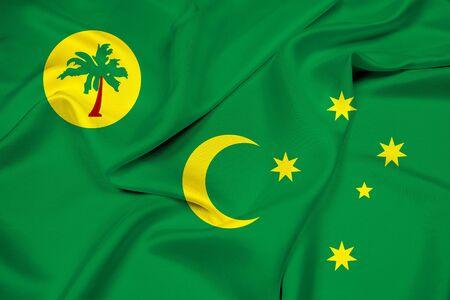 cocos: Waving Flag of Cocos Islands Stock Photo